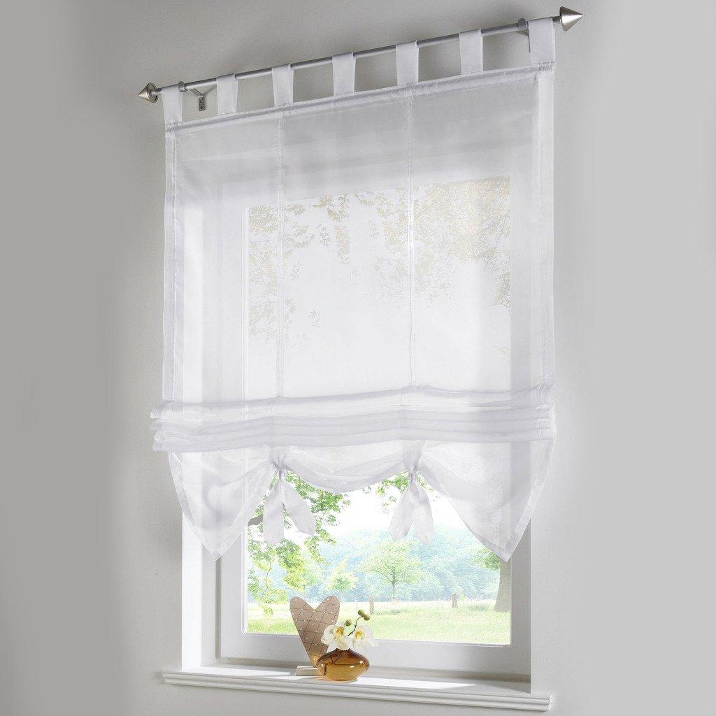 Amazon.de: Raffrollo Schlaufen Gardinen Vorhänge 1er Pack Vorhang