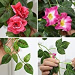 Lopkey-Silk-Rose-Artificial-Flowers-Hanging-Basket-DecorRed