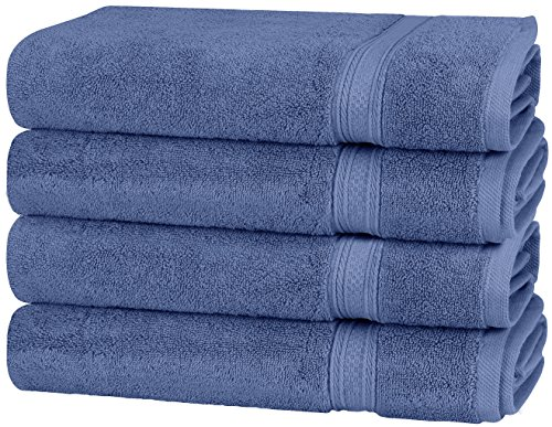 Utopia Towels 700 GSM Premium Towels Set - 4 Pack - Cotton for Hotel & Spa Maximum Softness and Absorbency (4 HAND TOWELS - ELECTRIC BLUE) by Utopia Towels