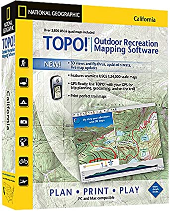 Amazoncom TOPO National Geographic USGS Topographic Maps - Elevation map of california