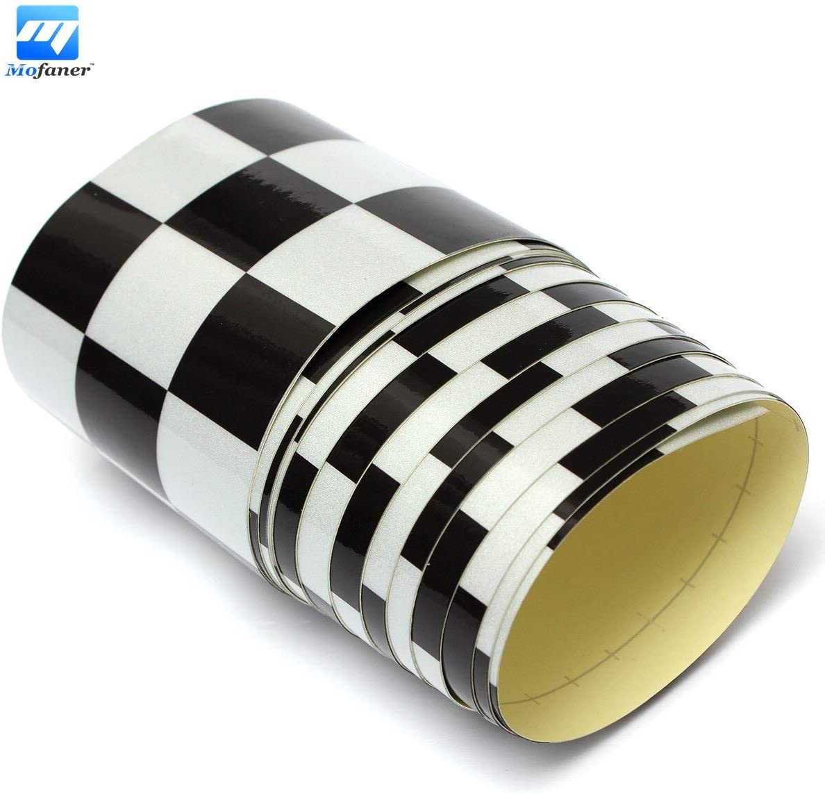 3/'/' Black/&White Checkered Flag Vinyl Decal Tape Car Bike Motorcycle Tank