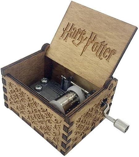 Biscount Caja musical de madera tallada con diseño de Harry Potter: Amazon.es: Hogar