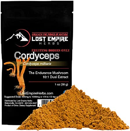 Lost Empire Herbs Organic Cordyceps Extract Powder