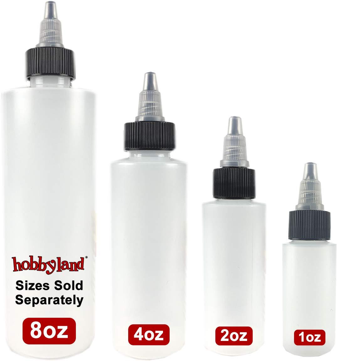 Hobbyland Squeeze Bottles with Twist Cap (8 oz, 6 Bottles)