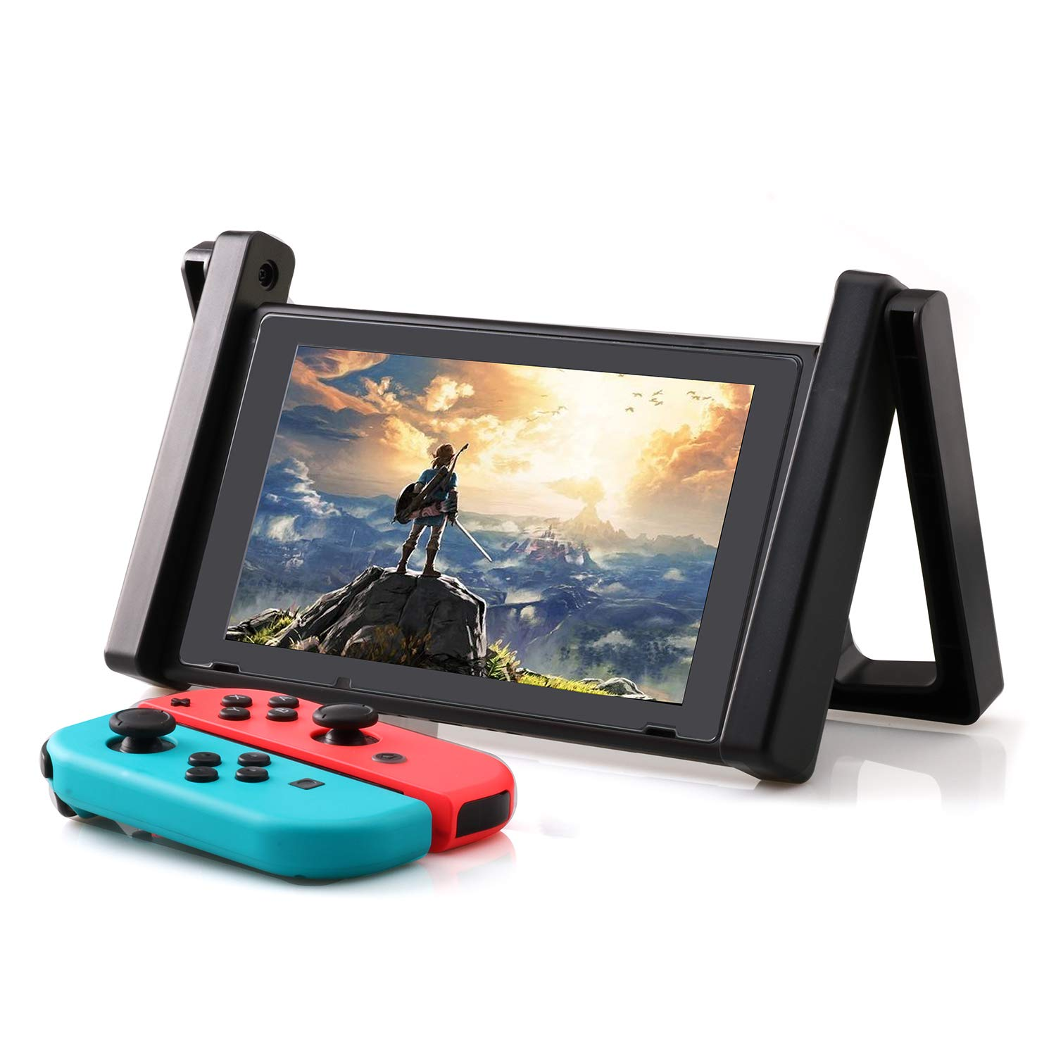 Stand for Nintendo Switch, Portable and Adjustable Car Holder and Playstand for Nintendo Switch by ECHZOVE