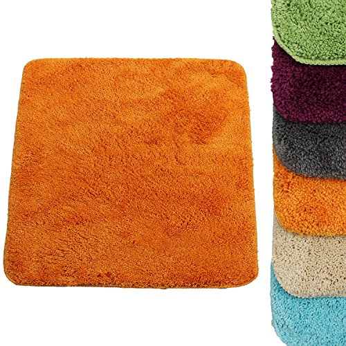 Proheim WC Vorleger 50 x 50 cm in Orange Premium Badvorleger 1200 g/m² - weitere Farben wählbar