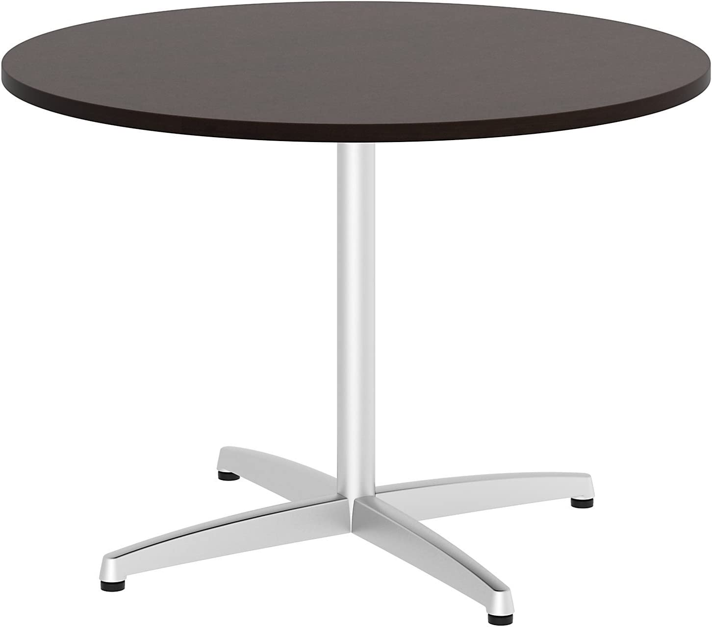 Bush Business Furniture Round Conference Table with Metal X Base, 42W, Mocha Cherry