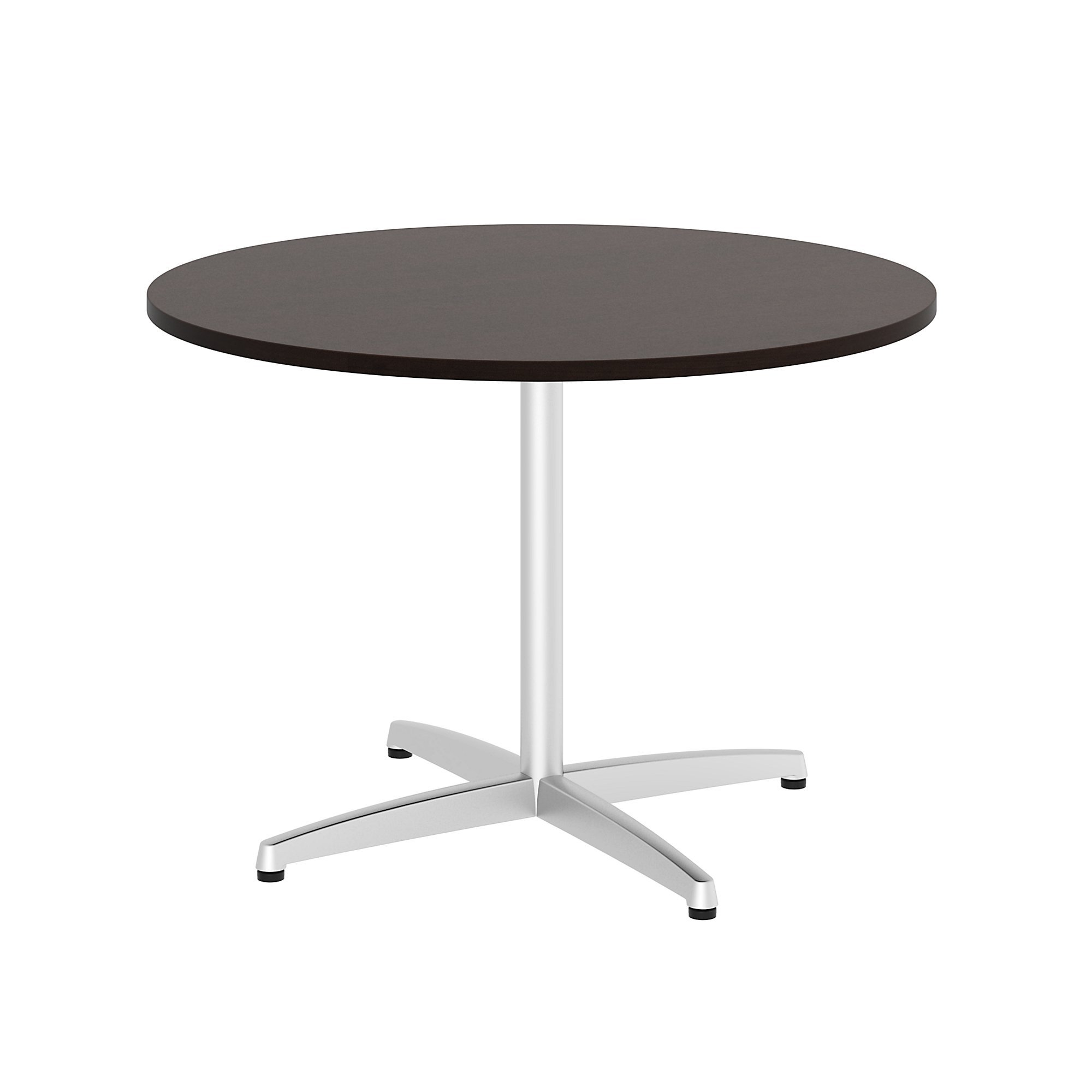 Bush Business Furniture 42'' Round Conference Table with Metal Base, Mocha Cherry