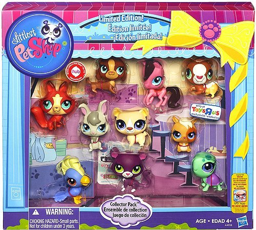 Littlest Pet Shop Limited Edition Collector's 10-Pack [Horse, Panther, Dachshund, Cockatoo, Guinea Pig, Hamster, Turtle, Fox, Bear and Bunny] ()