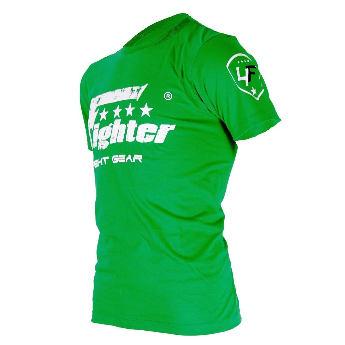 4Fighter T-Shirt de Color sólido Verde con Logo Blanco de impresión Used Look Talla XS-XXXL: Amazon.es: Deportes y aire libre