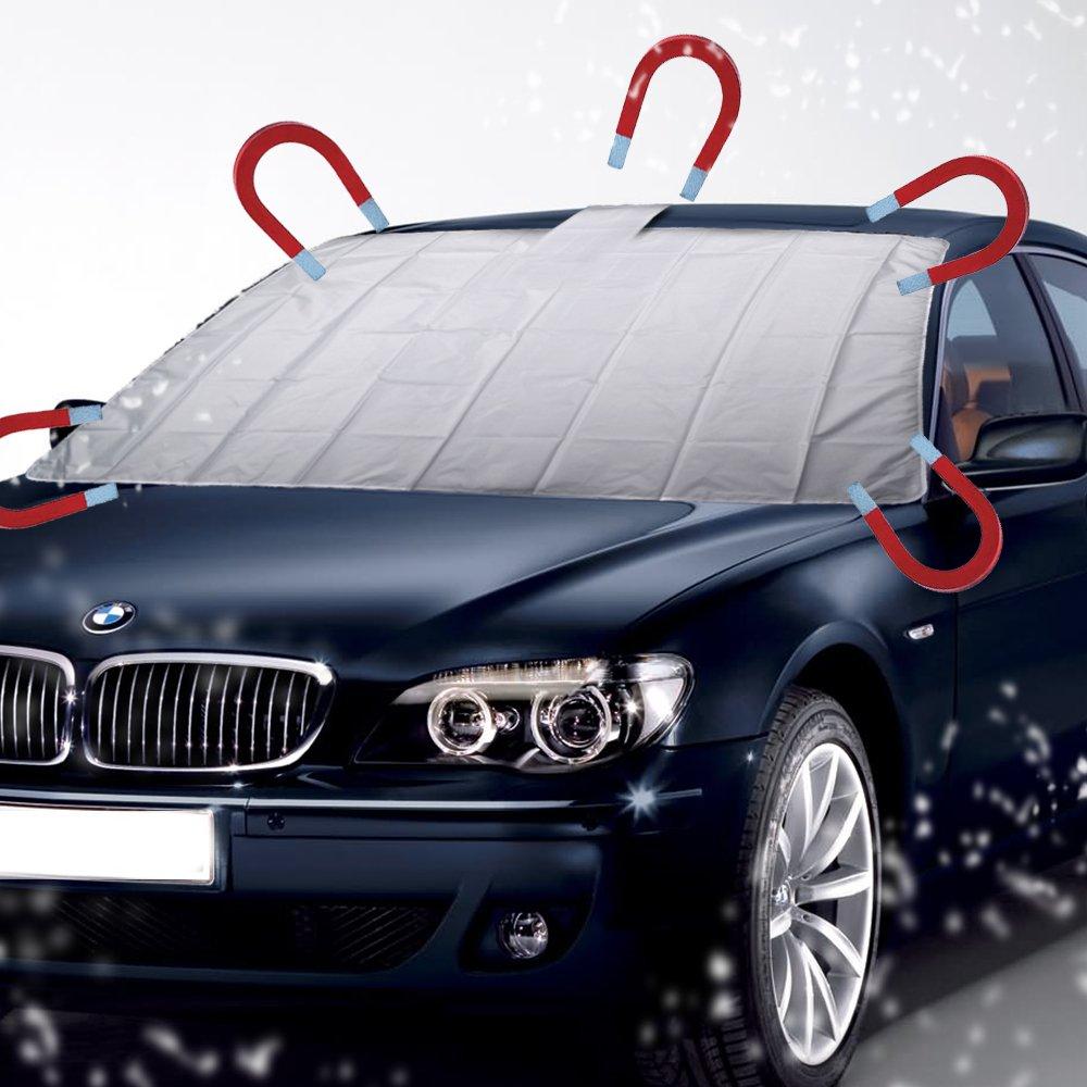 Auto Scheibenabdeckung mit 5 MAGNET Thermo Frontscheiben Abdeckung Windschutzscheiben Eisschutzfolien 161cm X 96cm Reelva