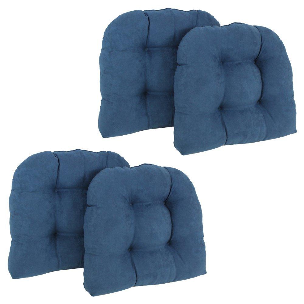 BlazingニードルU型マイクロスエード素材Tuftedダイニング椅子クッション( Set of 4 ) 4 93184-4CH-MS-RW  レッドワイン B01HEF7CKE