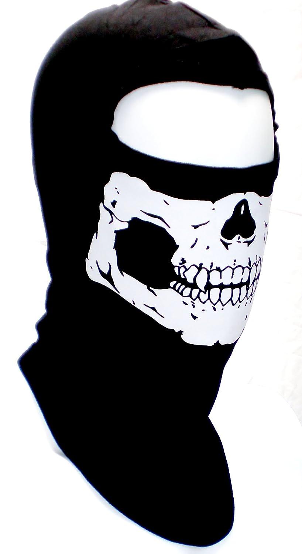 Amazon.com: USA Made Adult Skull Face Ghost Mask Ski Hood Large ...