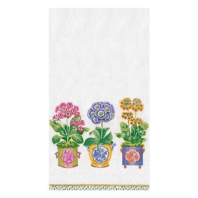 .com | Caspari Primroses Paper Guest Towel Napkins - 30 Count: Cocktail Napkins