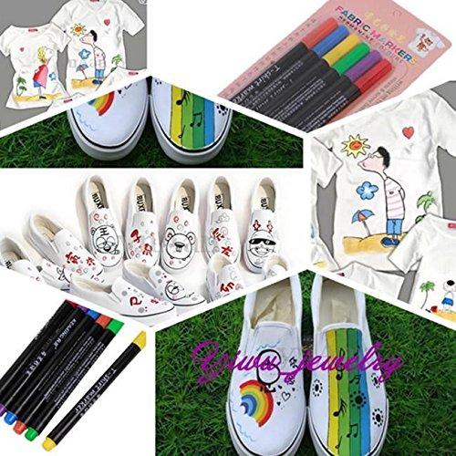 6pcs-new-fabric-paint-pens-clothes-t-shirt-shoes-fine-nib-markers-six-colours-y2