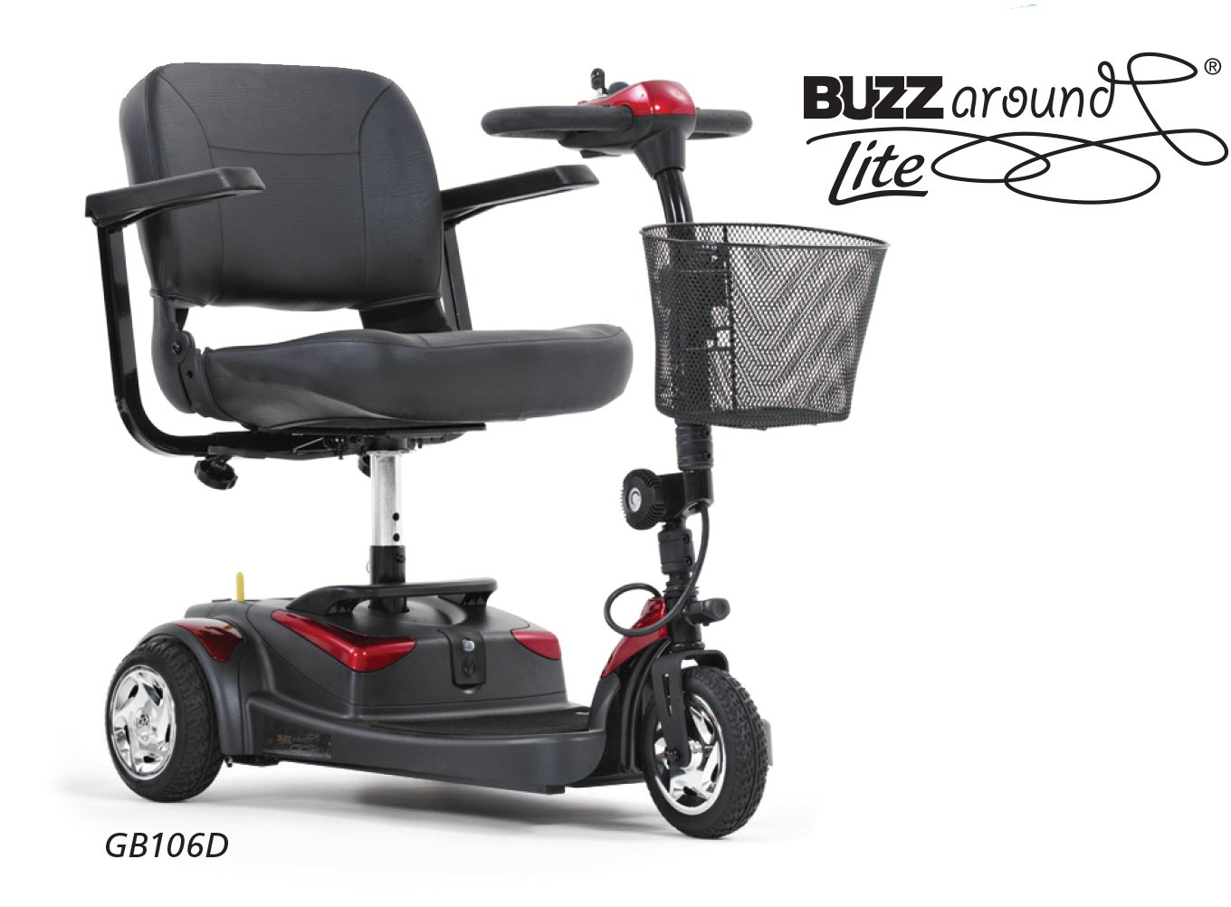 Buzzaround Lite 3 Wheel Mobility Scooter - PHILLIPS POWER PACKAGE TM - TO $500 VALUE