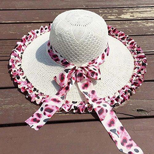 A Sole Grande colore opzionale Donna 1 Colori Chunlan Baldacchino Estivo In Cappelli Pizzo Paglia 2 Spiaggia qUBpPgf