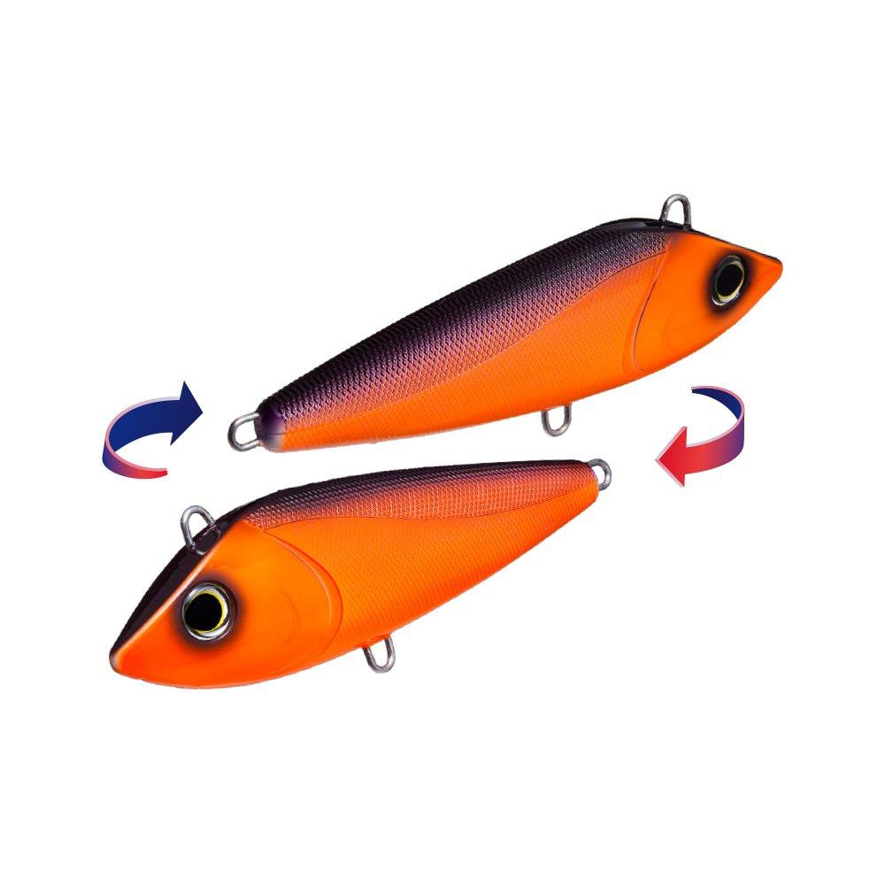 Orange//Black Yo-Zuri R1158-COB Bonita Trolling Sinking Lure
