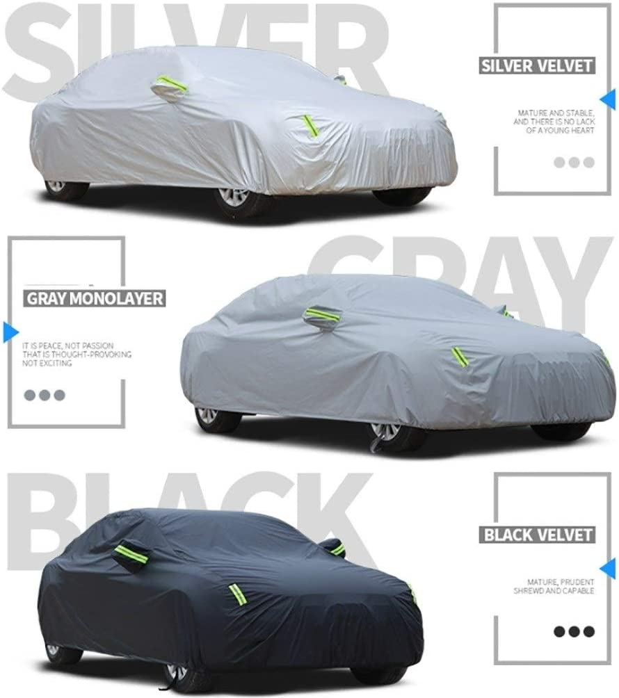 Four Seasons Universal Outdoor Car Cover weather proof car cover Cotton Lining Heavy Duty Breathable Color : Black GAOWEIFENG Compatible With Lotus Elise Fully Waterproof Car Cover