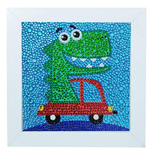 Diamond Painting by Number Kits for Kids with Wooden Frame