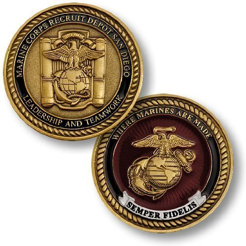 Marine-Corps-Recruit-Depot-San-Diego-Challenge-Coin