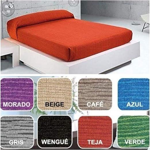 Regalitostv Colcha Multiusos Foulard Plaid Color Liso Jaspeado FÁBRICADO ESPAÑA (220_x_250_cm (SOFÁ 3 PLAZAS O Cama 135), CAFÉ): Amazon.es: Hogar