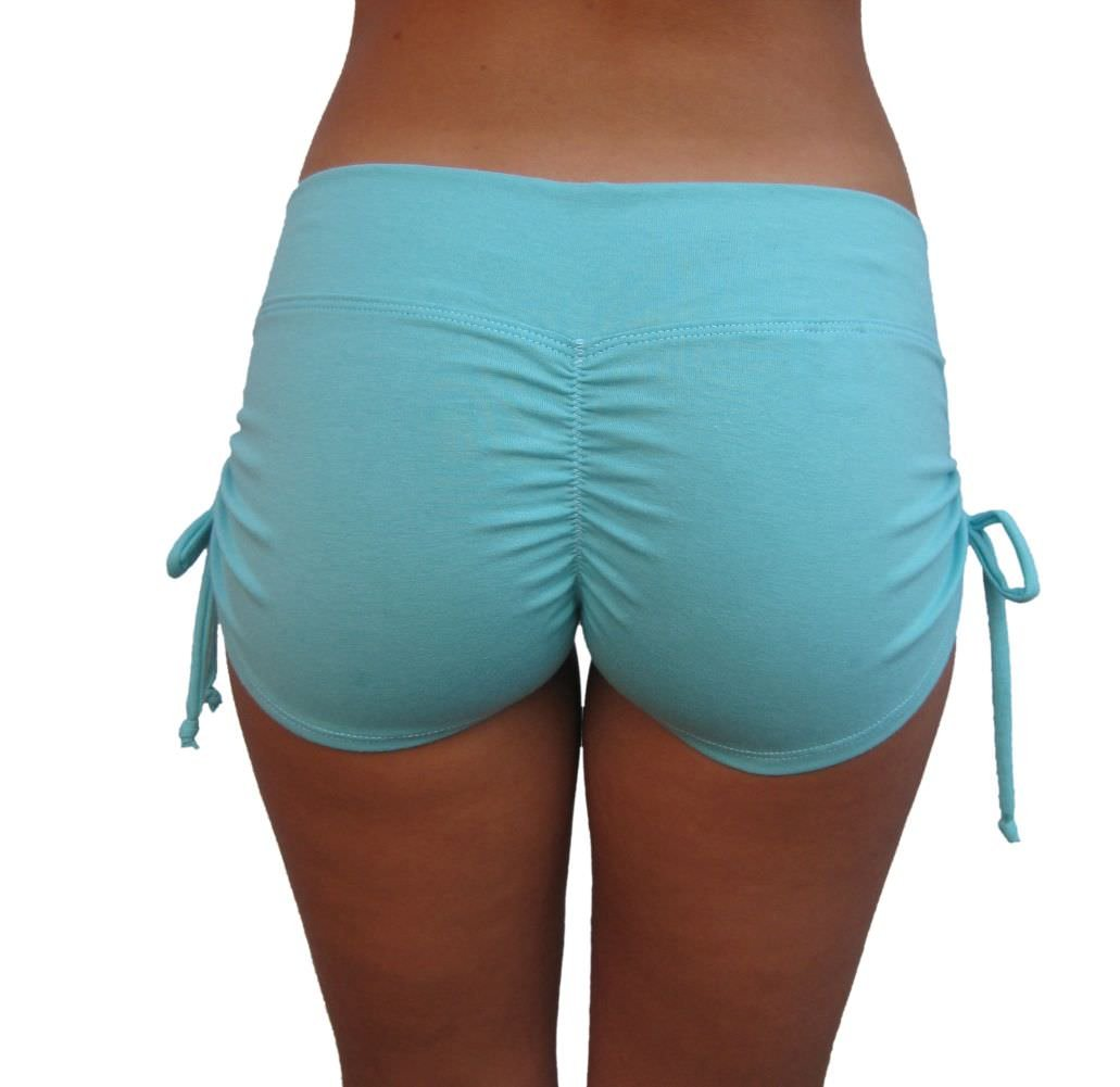 Delicate Illusions Sculpting Scrunch Butt Drawstring Gym Yoga Pole Fitness Workout Shorts Women S (3-5) Mint Green