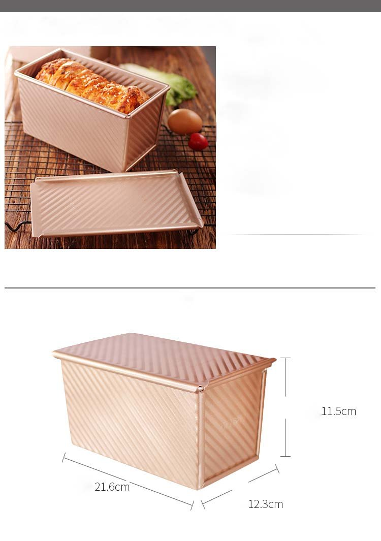 caja de cartón corrugado utensilios para hornear pan de oro tostadas molde con tapa horno antiadherente con pan: Amazon.es: Hogar