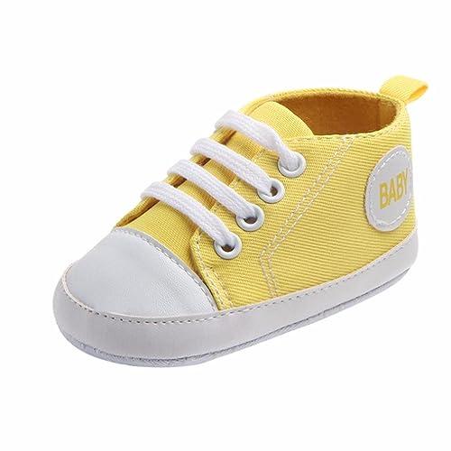 K-youth® Zapatos Bebe Primeros Pasos Zapatillas Niño Recién Nacido Zapatos Primeros Pasos Zapatilla de Deporte Antideslizante de Zapatos de Lona ...