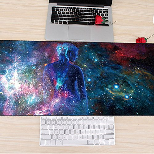 Cmhoo XXL Professional Large Mouse Pad & Computer Game Mouse Mat (35.4x15.7x0.1IN, Sky girl) Photo #6