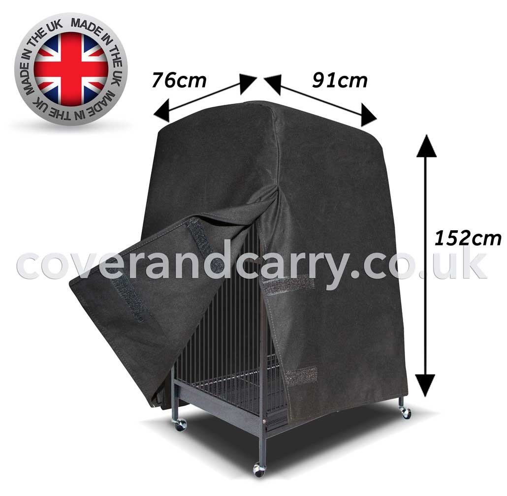 76 x 152 x 91 Parred Bird Cage Cover. Varying Sizes (76 x 152 x 91) Made in the UK from full blackout cotton. A little more money a lot more quality