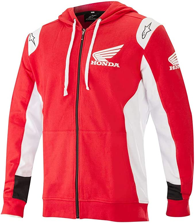 Alpinestars Honda Zip Hoodie Rot Weiß Xxl Bekleidung