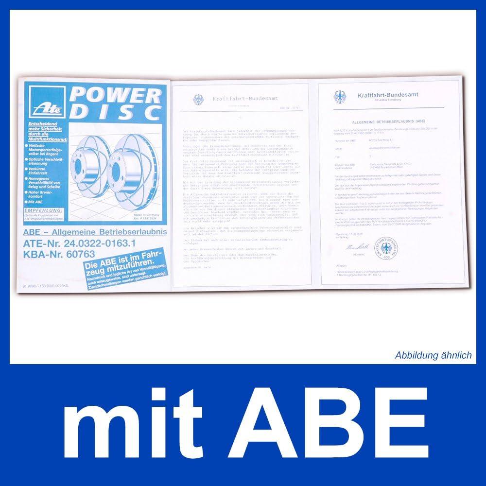 ATE POWERDISC BREMSSCHEIBEN /Ø325mm+CERAMIC VORNE