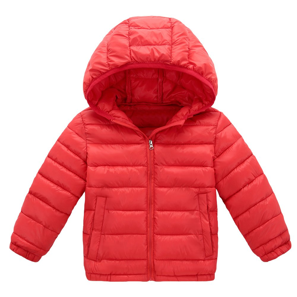 Baby Boy Girl Winter Puffer Coat Toddler Cotton-padded Hooded Outwear LZ-TZ-436