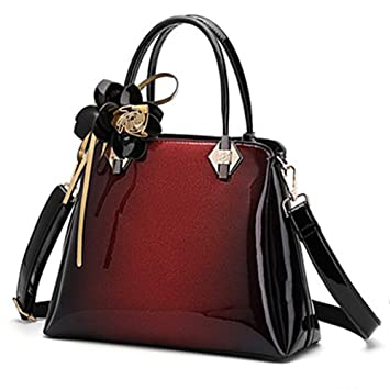 2a78c71f8f444 RedSwan Damen Henkeltaschen Tote Handtasche Umhängetasche PU Leder Taschen  Damen Shopper Schultertasche (Black)