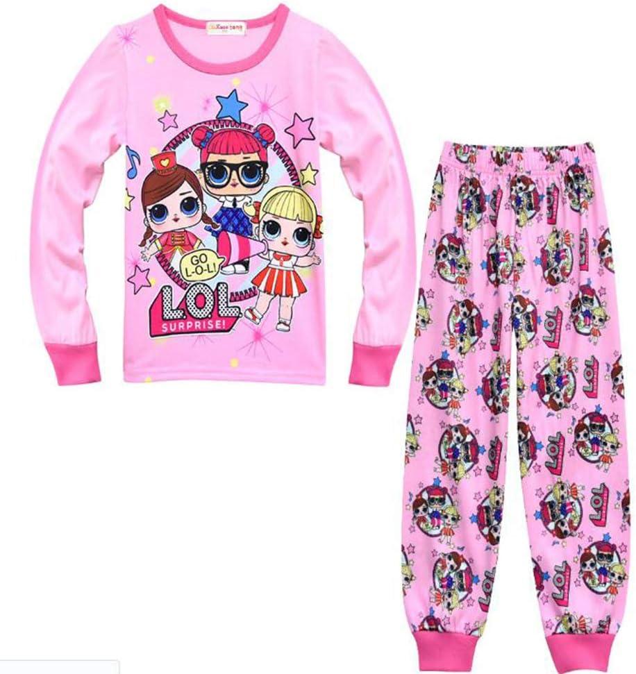 Kids Girls Cartoon Character 100/% Cotton Long Sleeve Top Night Wear PJ Pyjama