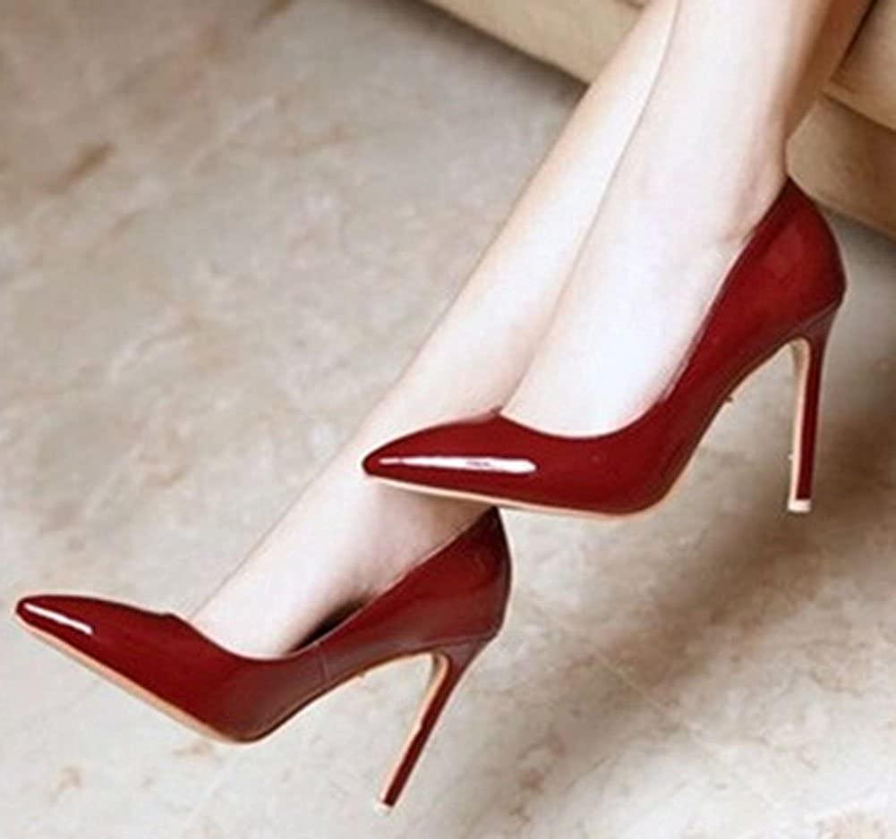 d3bbf9a13359 Red Bottom High Heels Brand Leather Women Pumps Pointed Toe High Heels Shoes  Woman Plus Size 2.5-6.5  Amazon.co.uk  Shoes   Bags