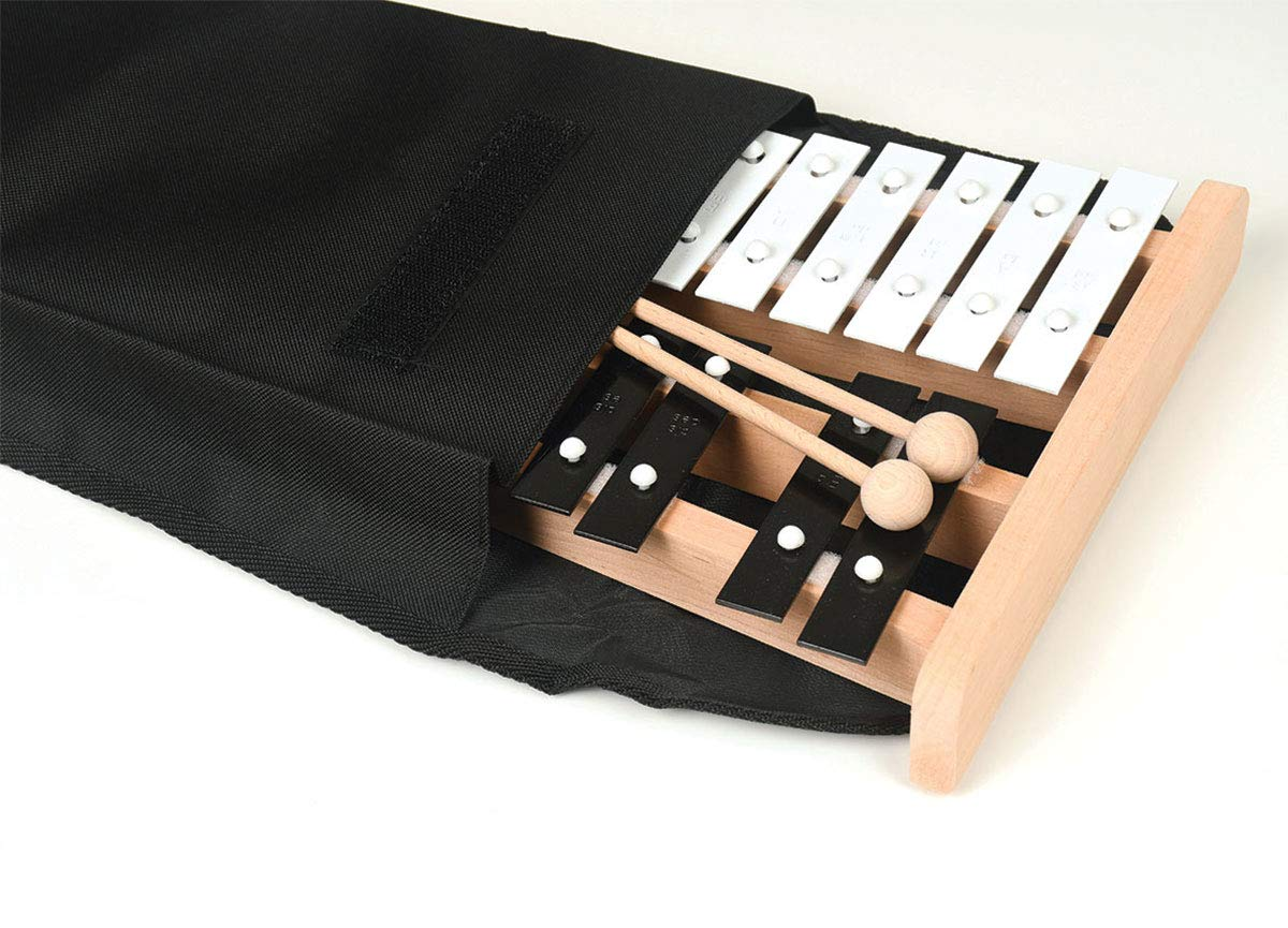 Professional Wooden Soprano Full Size Glockenspiel Xylophone with Cover Case - Includes 2 Wooden Beaters