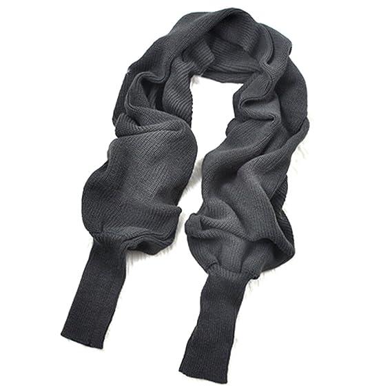 14894dbf6b54 WINOMO Automne hiver unisexe tricoté écharpe châle de Cape avec manches  gris foncé  Amazon.fr  Bricolage