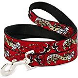 Buckle Down Gambling Lucky Rolling Die Dice Doves Cherries on Red Fun Animal Pet Dog Leash