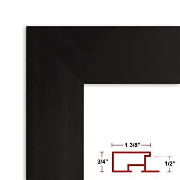 Amazoncom 20 X 40 Poster Frame Profile 99 Satin Black Custom