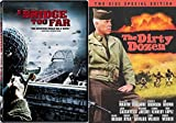 The Dirty Dozen SPECIAL EDITION & A Bridge Too Far DVD War 2 Pack Military Movie Action Set