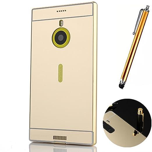 10 opinioni per Nokia Lumia 1520 Cover, LXHGrowH Custodia a Specchio per Nokia Lumia 1520