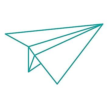 WANDKINGS Wandtattoo   Origami Style Papierflieger   130 X 80 Cm   Türkis    Wähle