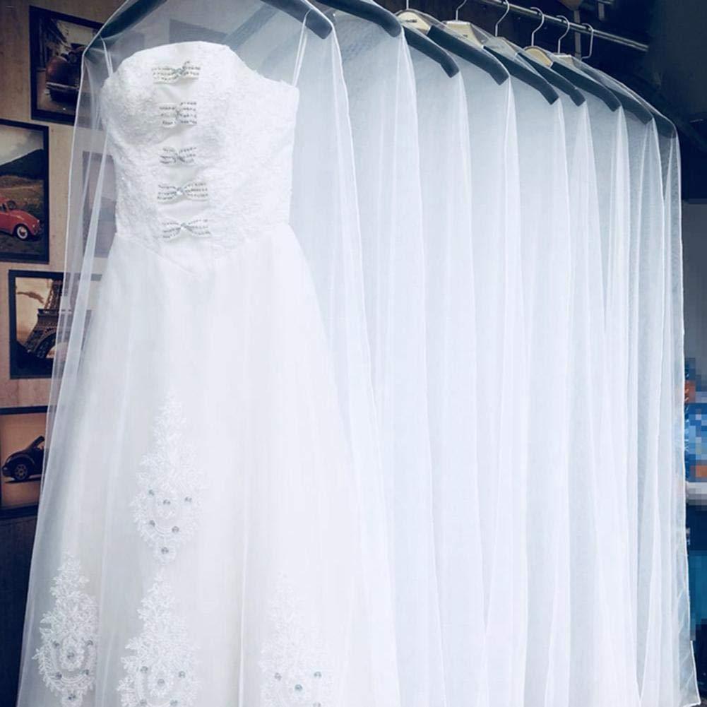 Blanco TRULIL C:200 * 120 2 Protectores de Ropa Antipolvo 160 cm 180 cm 200 cm Transparente Suave Tul para Ropa de hogar Vestido de Boda Vestido de Novia Gown Protector