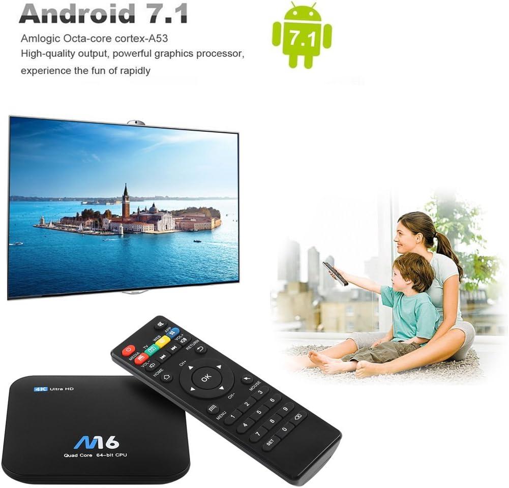 TV Box Sieges M16 S905X de Amlogic, Android 7.1, Quad Core 64 bit 1GB/8GB, compatible Wi-Fi 2,4G y 4K Ultra HD: Amazon.es: Electrónica