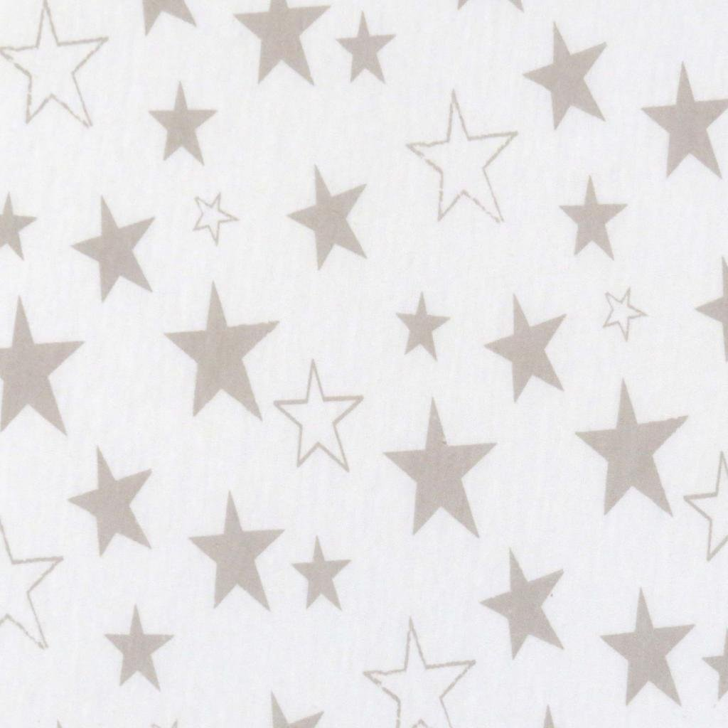 SheetWorld Fitted Cradle Sheet 18 x 36 - Grey Stars Jersey Knit - Made in USA