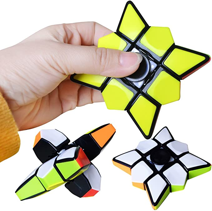 LAWARY Baby Puzzle Toy, Finger Puzzle Cube Spinning Cube Juguetes ...