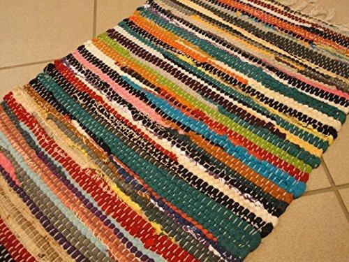 Webteppich  Fleckerl Kufstein Webteppich 100% Baumwolle ca 60 x 40 cm: Amazon ...