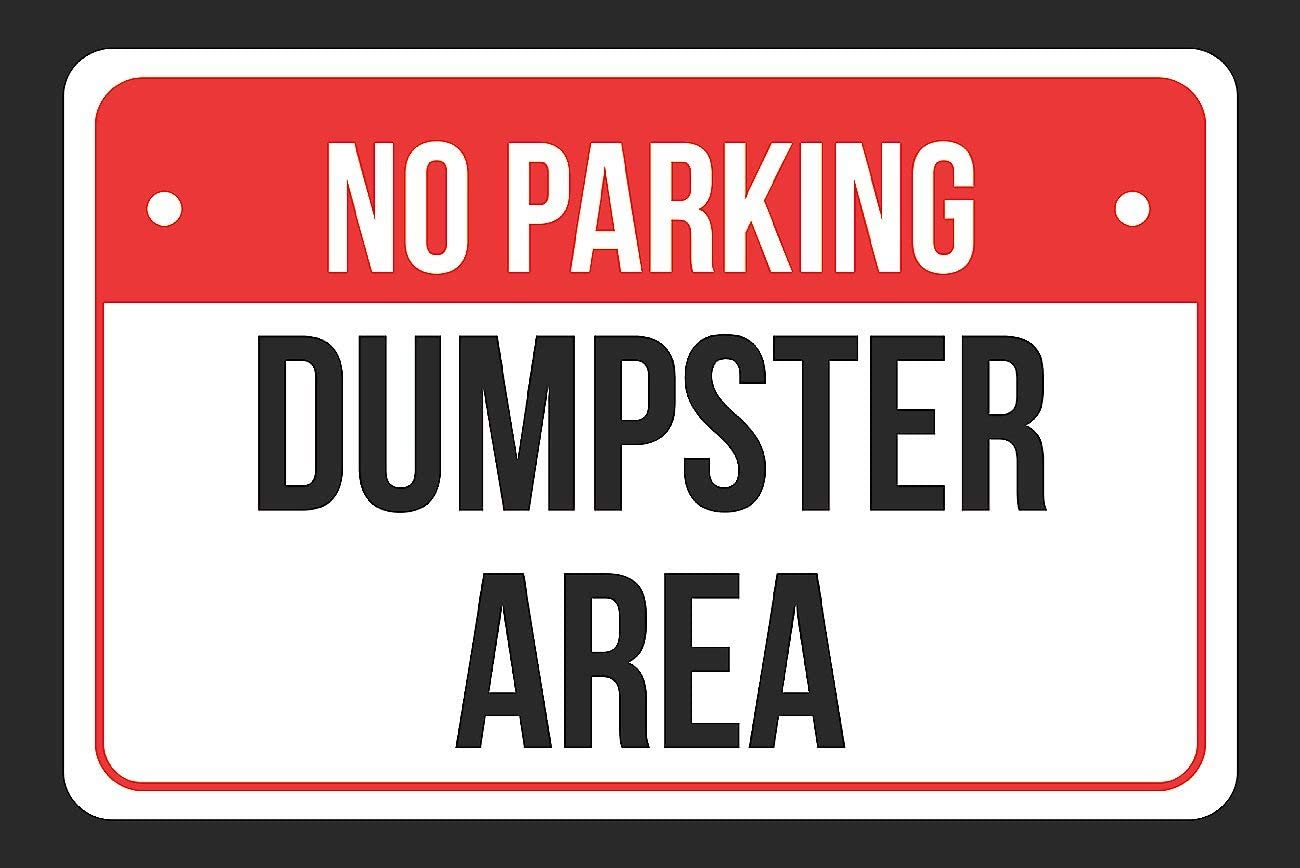 - Amazon.com: NO Parking Dumpster Area Print Red, White And Black